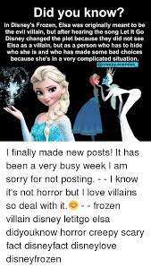 Elsa Memes - did you know in disney s frozen elsa was originally meant to be the