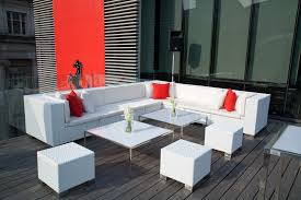 White Modern Outdoor Furniture by Outdoor Lounge Furniture Modern