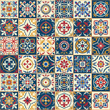 gorgeous seamless pattern colorful moroccan portuguese