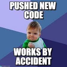 Code Meme - pushed new code success kid meme on memegen
