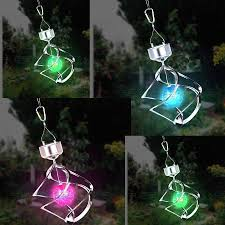 Colour Changing Solar Garden Lights - globatek colour changing saturn wind spinner solar light garden no