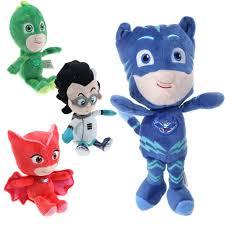 4pcs movie pj masks gekko catboy owlette romeo plush doll toys