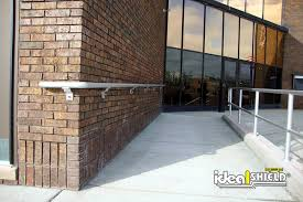 Wheelchair Ramp Handrails Aluminum Ada Handrail Ideal Shield