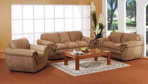 Tan Microfiber Living Room Set - Microfiber living room sets