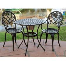 Outdoor Bistro Table Set Best Selling Home 234795 3 Pc Outdoor Bistro Furniture Set