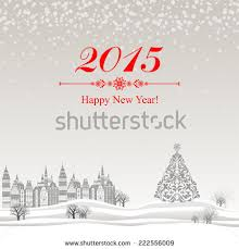 Happy New Year Business Card 2015 Happy New Year Greeting Card Stock Vector 222556009