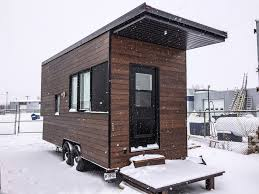 Modern Tiny House A Modern Tiny House On Wheels In Quebec Canada Designed Built