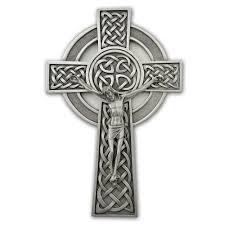 celtic crucifix pewter celtic knot crucifix