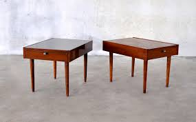 Mid Century Nightstands Select Modern Pair Of Mid Century Nightstands Beside Tables End