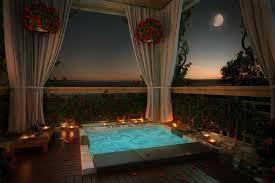 modern romance design porch candles relax drinks moon calm
