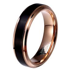 4mm ring gold and black tungsten carbide ring 8mm 6mm 4mm ringkeep