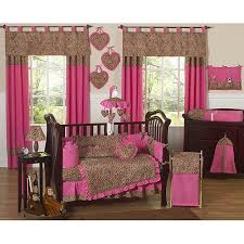 Overstock Com Bedding Pink Cheetah 9 Piece Crib Bedding Set Free Shipping Today