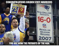 Patriots Meme - congratulationsgolden state warriors new england wins losses