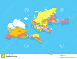 The World Political Map by Isometric Political Map Of The World Stock Vector Image 69909443