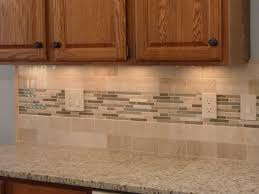 kitchen 35 grey tile backsplash brown wood wall shelves electric