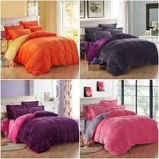 Super King Bed Size Super Soft Thick Velvet Denim Bedding Set Cashmere Bedding Set