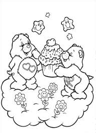 easy to color the care bears coloring pages womanmate com