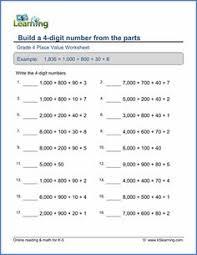value of a digit worksheet grade 5 place value worksheet to the underlined digit