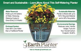 commercial self watering planters sustainable self watering