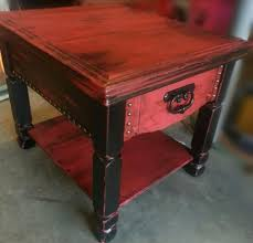 distressed wood end table distressed coffee table trunk and end tables piece living room small
