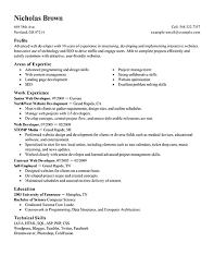 web developer resume examples resume templates