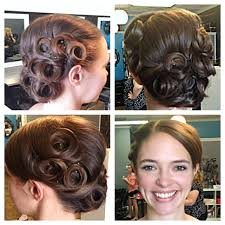 pin curl wedding updo bridal hair pin curls www lookingglassstudio ca