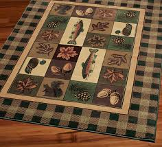 Fish Area Rugs Delectably Yours Com United Weavers Timberland Cabin Lodge Rugs