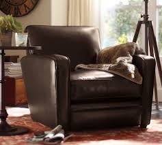 chair furniture pottery barn leather chair impressive image