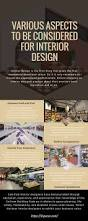 infographic various aspects to be considered for interior design