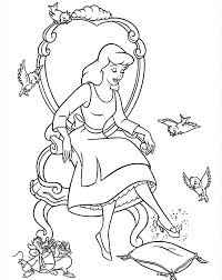 glass shoes cinderella coloring pages for kids cartoon coloring