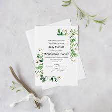 greenery wedding invitation set printable eucalyptus wedding