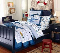 Blue And Red Boys Bedroom Nautical Decorating Ideas For Kids Rooms From Pottery Barn Kids