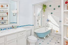 Vintage Bathroom Design Colors Relaxing And Stylish Bathroom In Blue And White With A Colorful