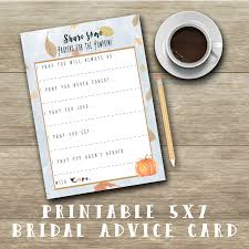 wedding advice card advice for to be bridal shower advice cards printable