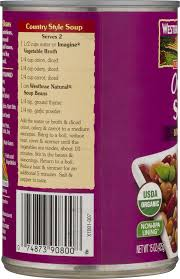 westbrae natural organic soup beans low sodium 15 0 oz walmart com