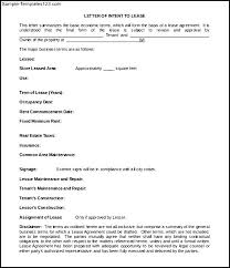 letter of intent to lease template simple blank letter of intent