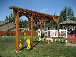 Small Backyard Swing Sets by How To Build A Swing Set Building Swing Sets Swingset Diy