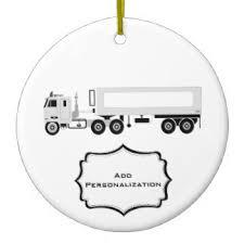 semi truck ornaments keepsake ornaments zazzle