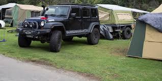 camping jeep wrangler caravan u0026 camping warburton holiday park