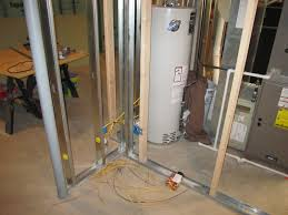 projects of plenty basement build rough in electric plumbing