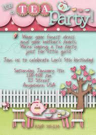 tea party birthday party invitation emma u0027s birthday course it