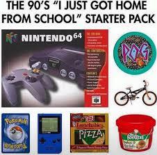 90s Meme - the 90s just got home from school starter pack starter packs