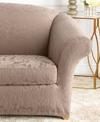slipcover chair sure fit stretch jacquard damask slipcover collection slipcovers