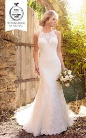 halter neck wedding dresses lace wedding dress with halter neckline essense of australia