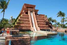 hotel atlantis mayan temple water slide atlantis the bahamas and yes i went