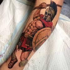spartan warrior tattoo design for sleeve