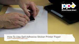 stick paper how to use self adhesive sticker printer paper youtube