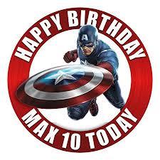 captain america cake topper marvel captain america cake topper 7 5 inch personalised