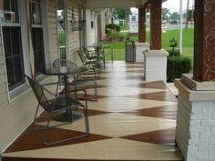 porch flooring ideas love the pattern for the painted porch floor styling the porch
