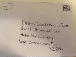shipping items to a disney world resort